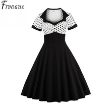 a3ed4ecc6211 2018 Summer Women Dress Retro 1950s 60s Dress Female Polka Dots Pinup  Rockabilly Sexy Party Dresses