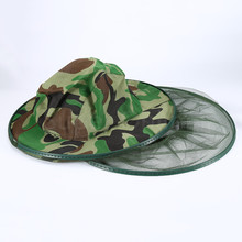 Mosquito Camo Midge Bug Fly Insect Bee Women Men Bucket Hat Fishing Camping Field Jungle Face Protect Cap Mesh Cover Mask