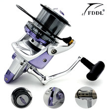 New Big Spool 10000 series Long casting Spinning fishing reel 4.6:1 Fly Fishing Reel For carp feeder fishing Free Shipping