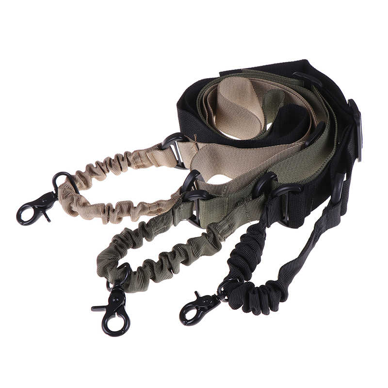 Tactical Gun Sling Verstelbare 1 Single Point Bungee Quick Release Rifle Band Systeem voor Airsoft Jacht Militaire Band