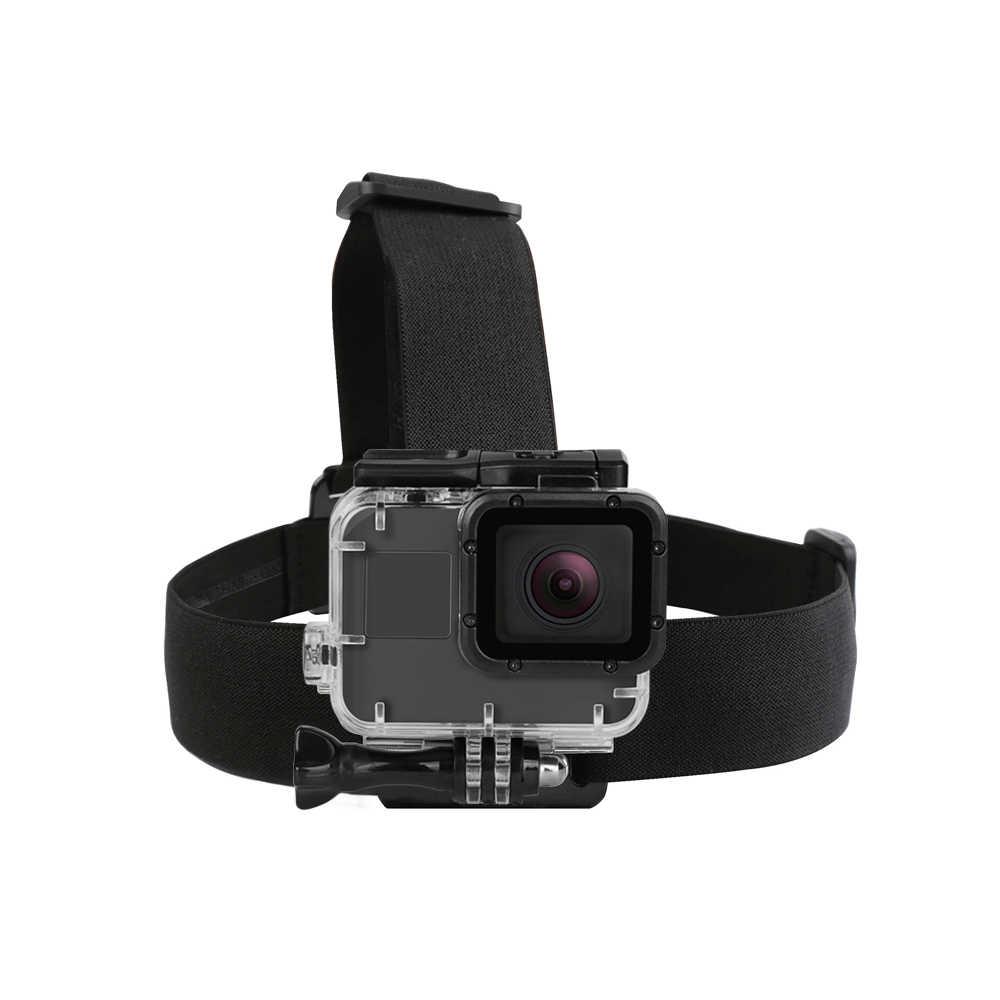 Снимать эластичный безвредный фалоэммитатор для ремешок на голову для экшн-камеры GoPro Hero 7 5 6 3 4 Session Sjcam Sj4000 Yi 4 K Экшн-камера Eken h9 Камера крепление для спортивной экшн-камеры Go Pro 7 аксессуары