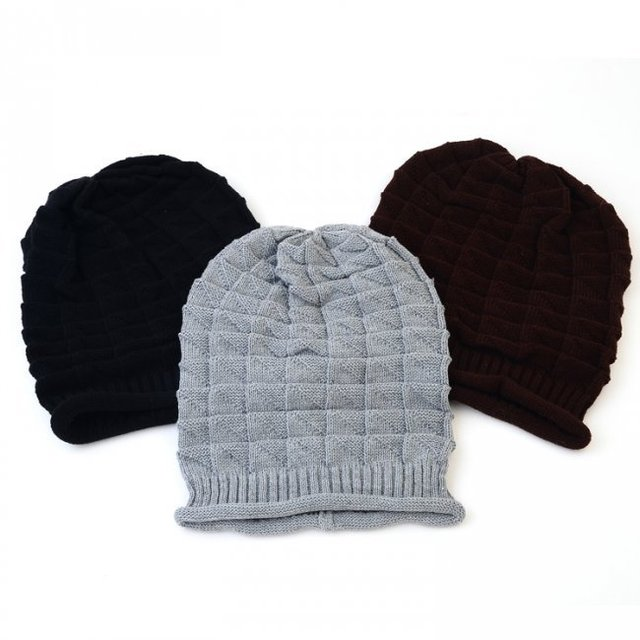 36 unids mens invierno punto slouch hat crochet Womens slouchy gris ...