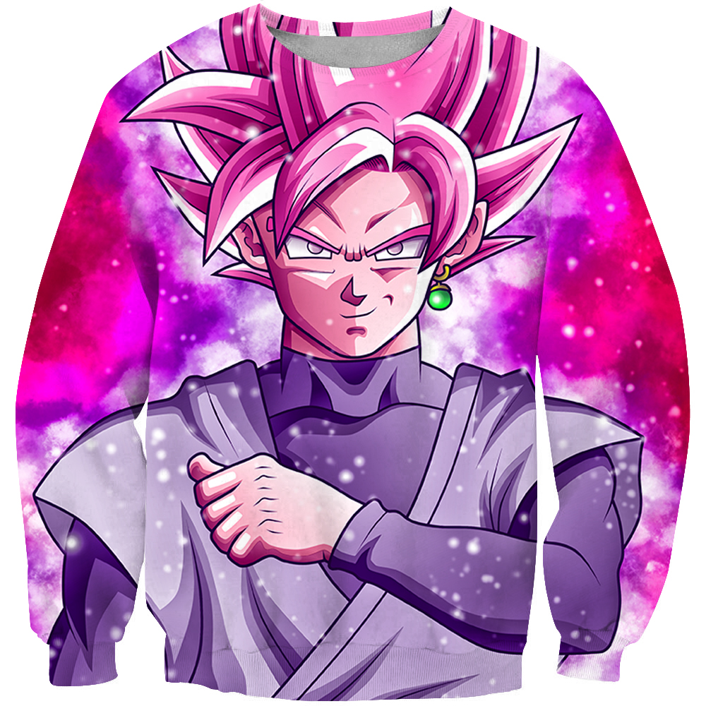 2019 New Fashion Men 3d Sweatshirt Japanese anime Cartoon Print Unisex Casual O-Neck Long sleeve sweatshirts Kid goku Pullover