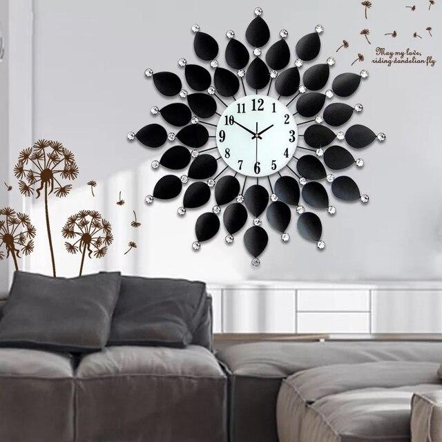 3d reloj de pared 48 unids diamantes sal n dise o moderno - Relojes decorativos para salon ...