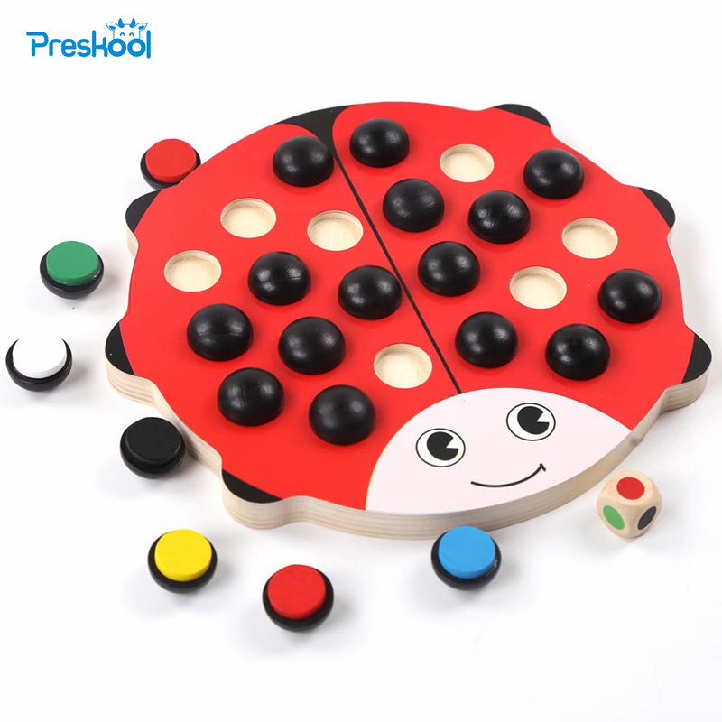 Memory chess Wooden Puzzle Toy Desktop game color guessing ...