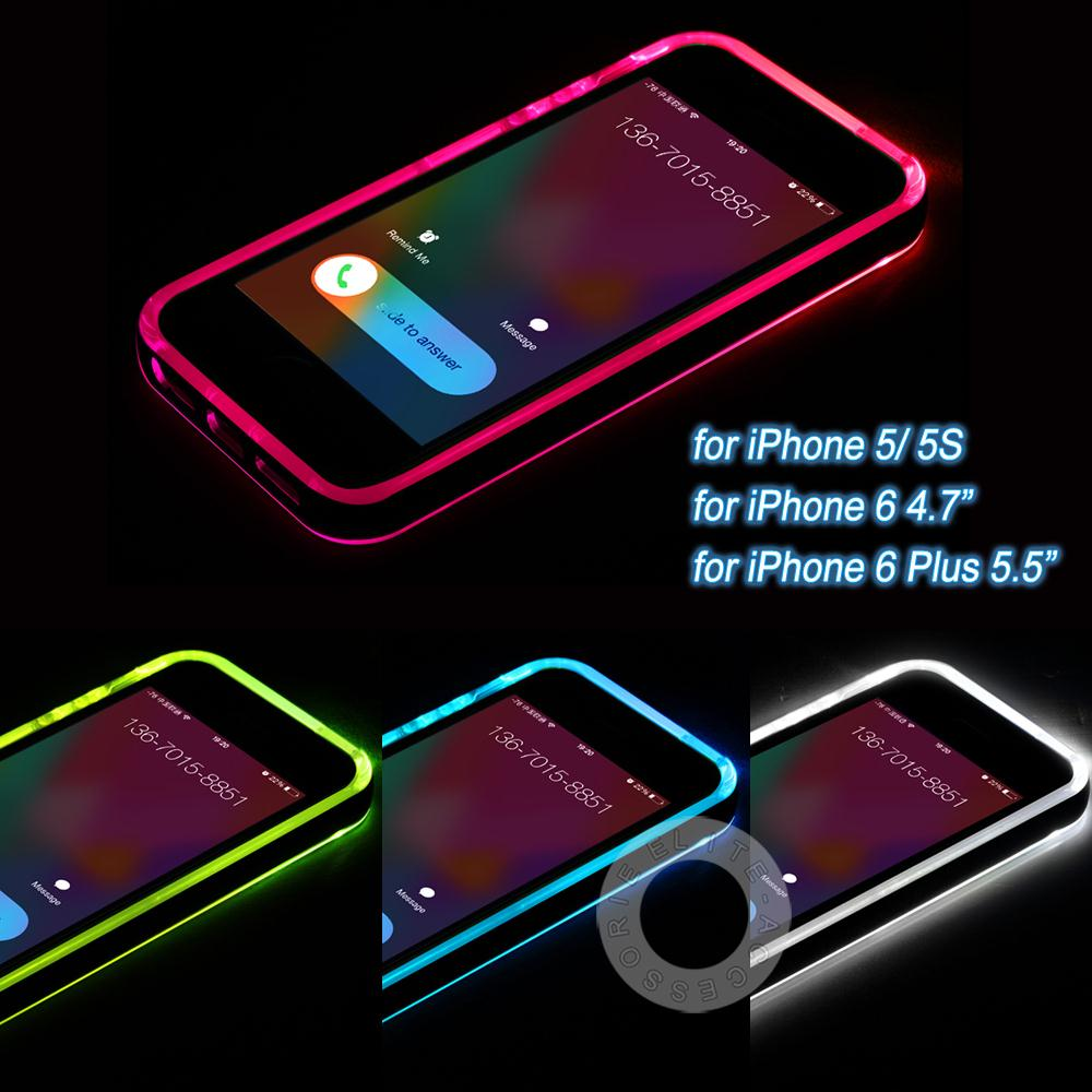 new cheap tpupc led flash light up case remind incoming call cover for apple