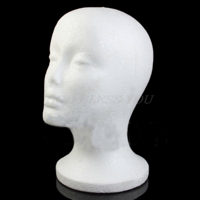 Женский пенопластовый парик для волос шляпа очки дисплей манекен пенопластовая головка модель Прямая поставка