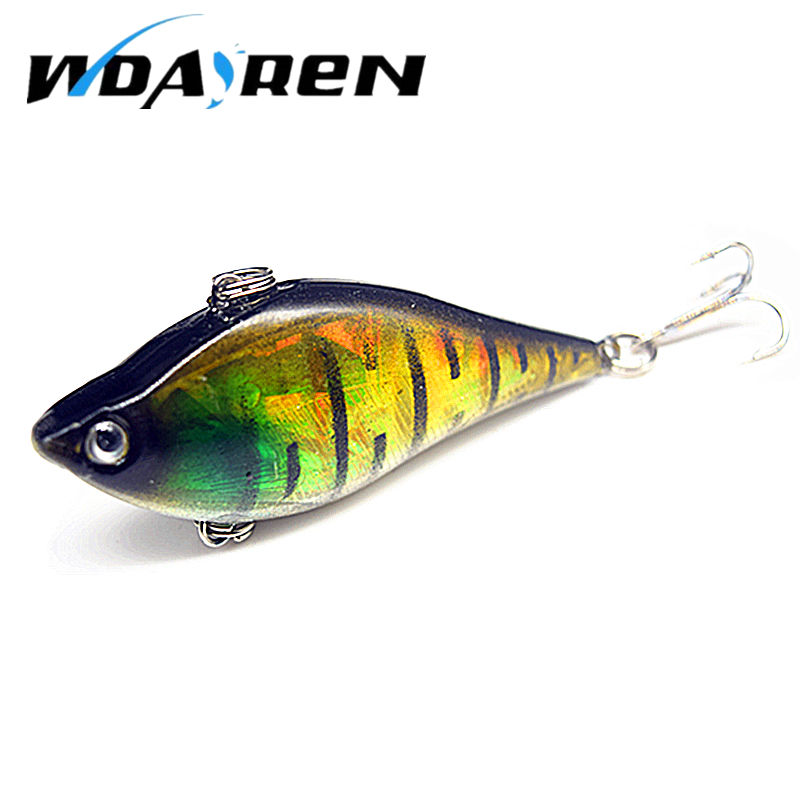 1pcs 6cm 13.1g Winter Fishing Hard Bait VIB with Lead Inside Ice Sea Fishing Tackle Diving Swivel Jig Wobbler Lure FA-271 30pcs set fishing lure kit hard spoon metal frog minnow jig head fishing artificial baits tackle accessories