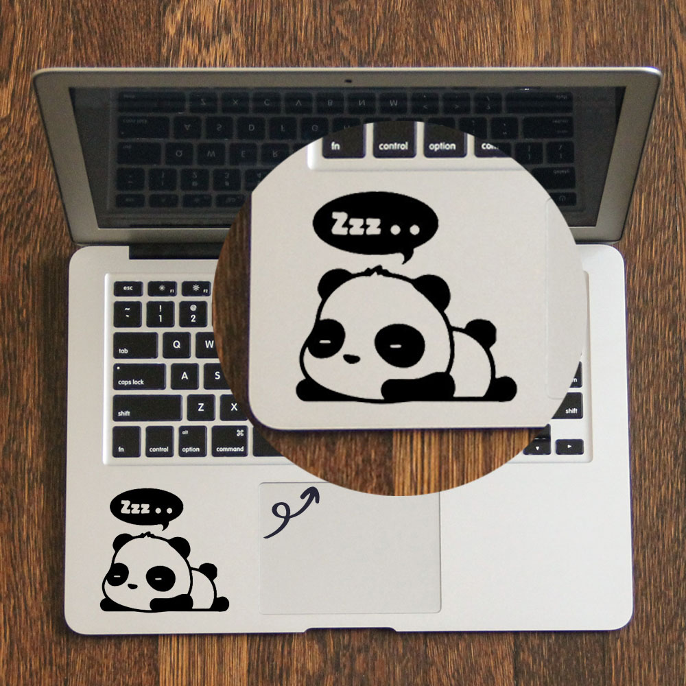 Cute Sleeping Panda Trackpad Decal Laptop Sticker for Apple Macbook Pro Air Retina 11 12 13 14 15 inch HP Mac Book Touchpad Skin рулонная штора волшебная ночь 120x175 стиль прованс рисунок emma