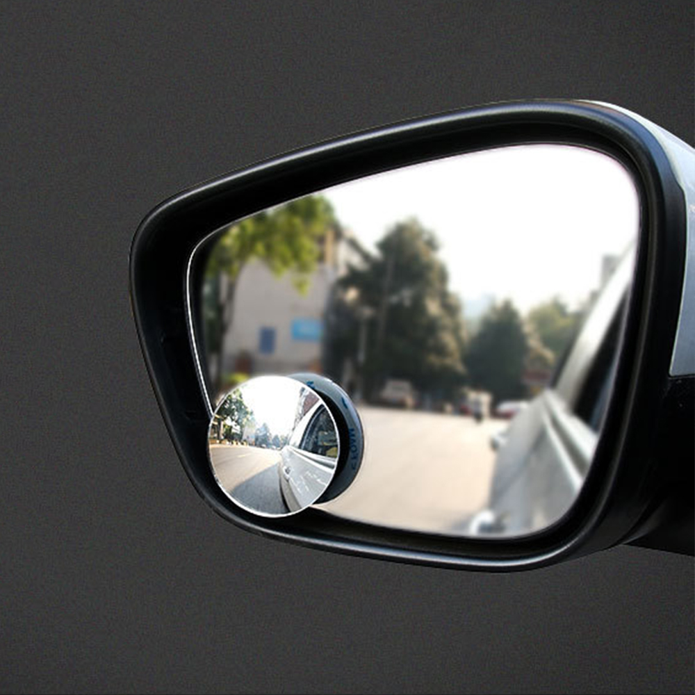 1pcs Car Accessories Small Round Mirror Car Rearview Mirror Blind Spot Wide-angle Lens 360 Degree Rotation Adjustable