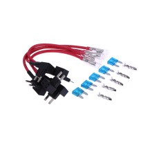 BEST 5PCS 15A Add Circuit Mini Blade Fuse Boxe Holder ACS ATO ATC Piggy Back Tap fast and quick install Car Accessories