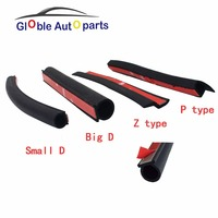 4Meter D Z P Type 3M Adhesive Car Rubber Seal Sound Insulation Weatherstrip Edge Trim Noise