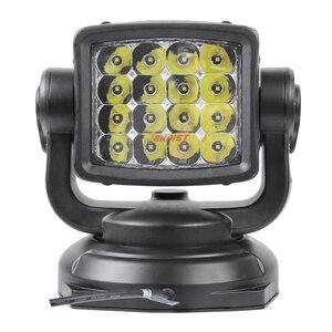 Image 3 - Le plus récent un pièces 80W 360 degrés Rotable LED recherche lumière de chasse avec Base magnétique pour Seaboat SUV voiture 12V 24V