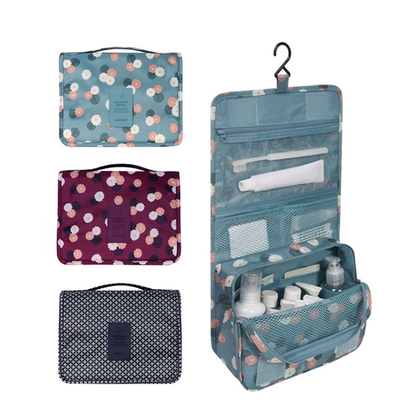 Large-capacity Cosmetic Bag Multi-function Storage Bag Wash Bag Travel Hanging Hook Wash Bag