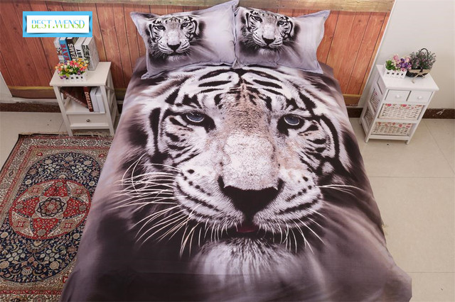 Best Wensed Euramerican Style 3d Tiger Duvet Cover Bedsheets