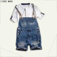 Для мужчин рваные джинсы комбинезоны для девочек s джинсовый комбинезон синие джинсовые шорты мужчин лето повседневное ко