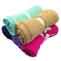 Newborn Baby Blankets Super Soft Cotton Crochet Summer 100*80 Prop Crib Casual Sleeping Bed Supplies Hole Wrap