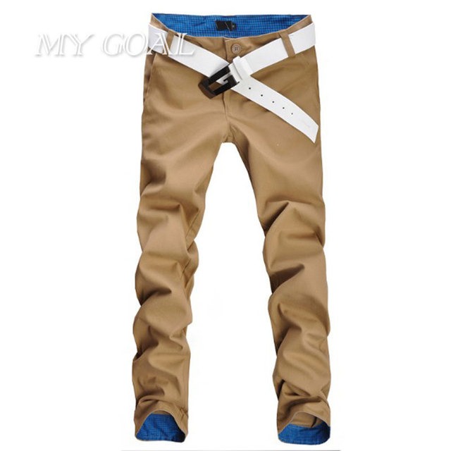 2 Colors Autumn Hot Sale Men Pants Fashion Casual Pants Men New Design High Quality Cotton Mens Pants