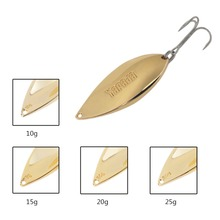 YAPADA Spoon Lure Zinc Alloy 10g 15g 20g 25g Fishing Lures Bait Hard Sequin Paillette Isca Artificial with Treble Hook New