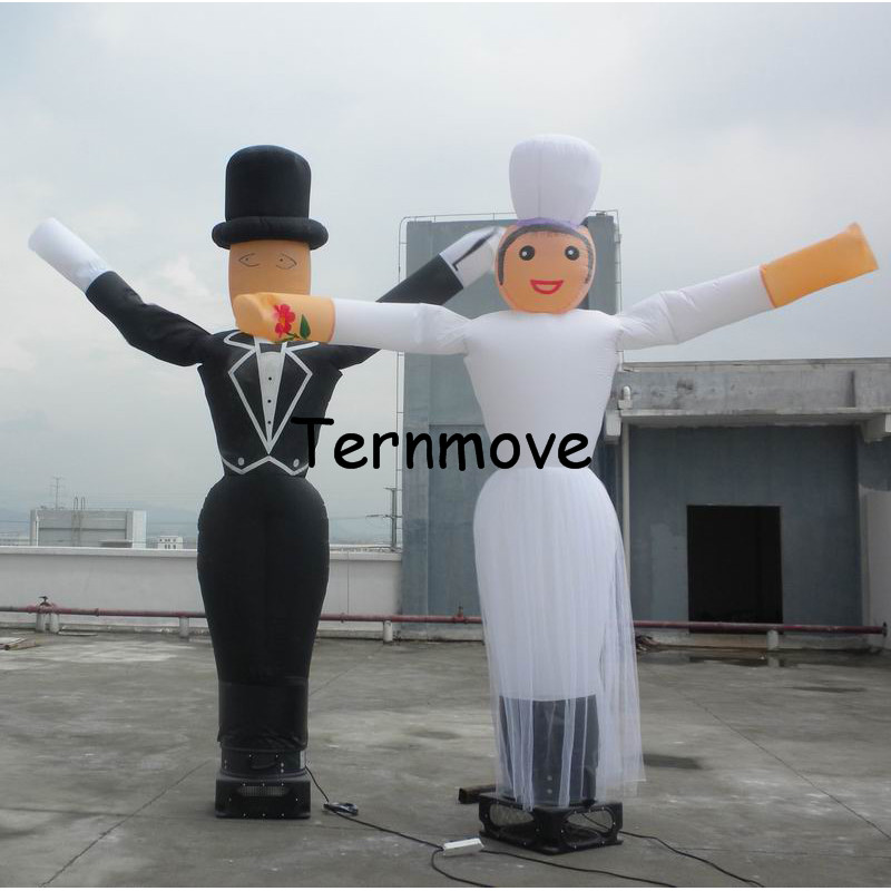 bride inflatable air dancer inflatable wave man air walker balloons cartoon sky dancer dancing air balloon цена