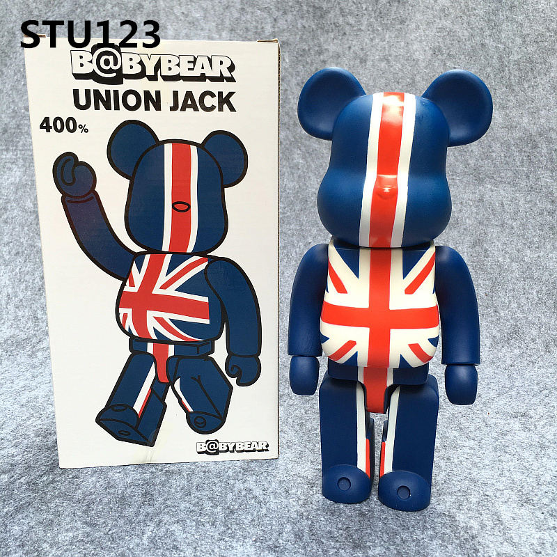 Have An Inquiring Mind 11 Inch Bearbrick 400% Be@rbrick Gloomy Black Ash Bb British Rice Flag Version Pvc Model Toy Birthday Gift To A Friend Box N602 Toys & Hobbies