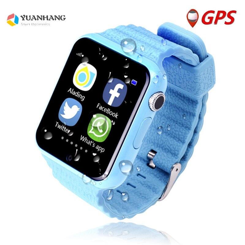 V7K caméra HD à distance intelligente sûre GPS LBS traqueur de localisation appel SOS montre-bracelet moniteur Anti-perte pour enfants étudiants