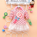 2016 Newest Fashion Spring Kids sweater greatly lollipop full version Dot Girls T-shirt stitching Baby Girls lace Dresses