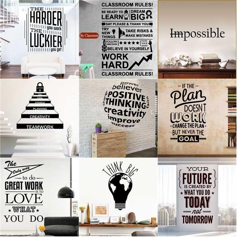 Buyuk Buyuk Motivasyon Tirnaklar Calisma Cumle Vinil Duvar Sticker