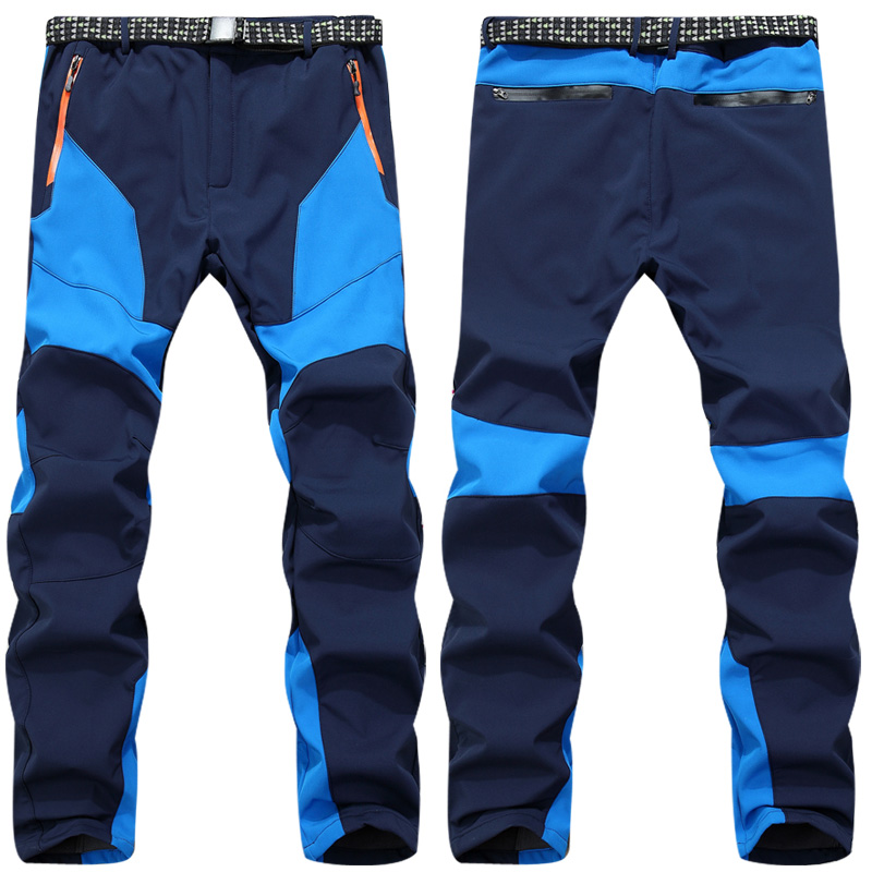 Winter Men Warm Softshell Fleece Pants Skiing Snowboard Outdoor Sport Hiking Trousers M-XXXL Camping Climbing Breath Snow Pants елочные украшения яркий праздник шар 8см стеклянный изумруд арт 17915