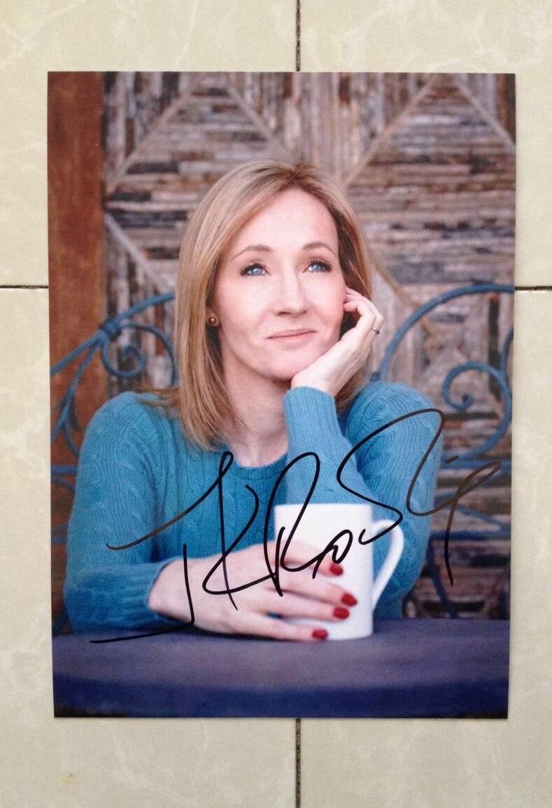 Signés J.K. Rowling autographié photo originale Harry Potter 7 pouces collection 102018D