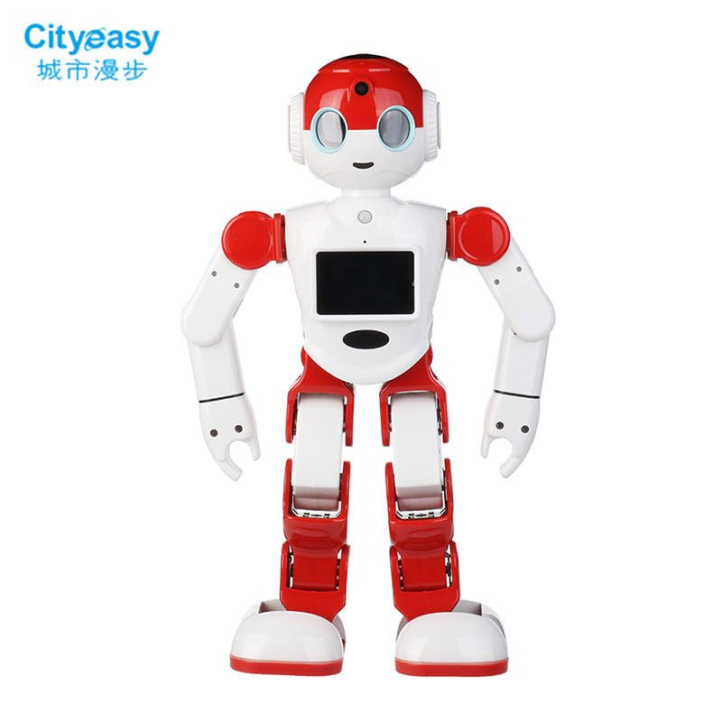 Cityeasy Intelligent Humanoid Robot Voice Control Robot Programming Software APP Control Security Education Children Present designing intelligent front ends for business software