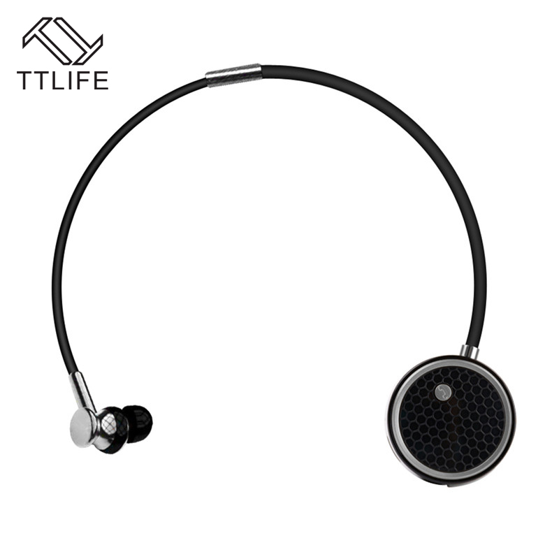 TTLIFE Wireless Bluetooth 4.0 Earphone Noise Cancelling Headphone Sports Sweatproof Earbuds with Mic One Care Two Headset ttlife bluetooth earphone