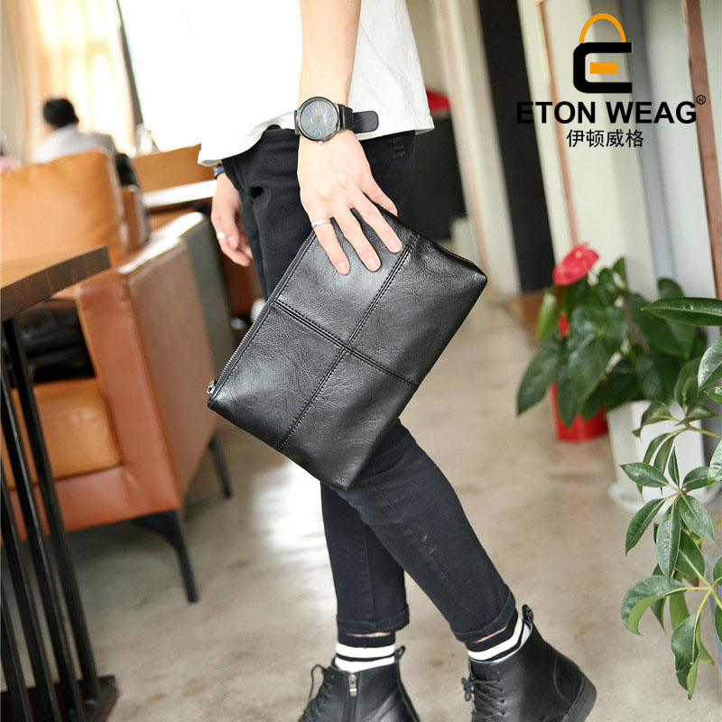ETONWEAG Brands Cow Leather Crossbody Bags For Women Messenger Bags Black Zipper Luxury Clutch Bag Organizer Woman Day Clutches кулер deepcool iceedge 400 fs
