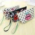 3D Printing Makeup Bags With Multicolor Pattern Cute Cosmetics Pouchs For Travel Ladies Pouch Women Cosmetic Bag