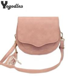 2019 New Arrival Women Mini PU Leather Crossbody Bags Tassel Shoulder Bag Designer Handbags Female Messenger Bag