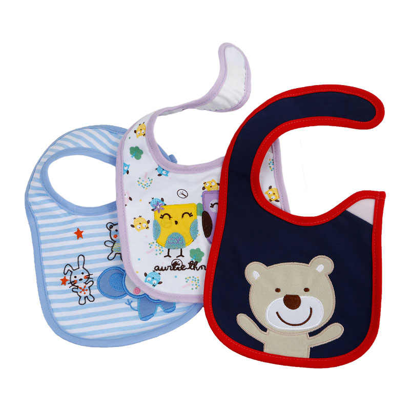 Baby Burp Cloth Feeding Bibs Fruit Print Smock Saliva Towel Bandana Infant J