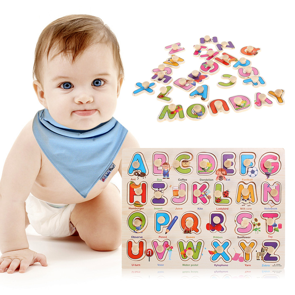 Letters&Numbers Matching Puzzle Toy Montessori Wooden Puzzle Educative Toys Early Educational Alphabet Toy for Kid Brithday Gift animal style alphabet wooden puzzle game intelligent toy 4pcs set