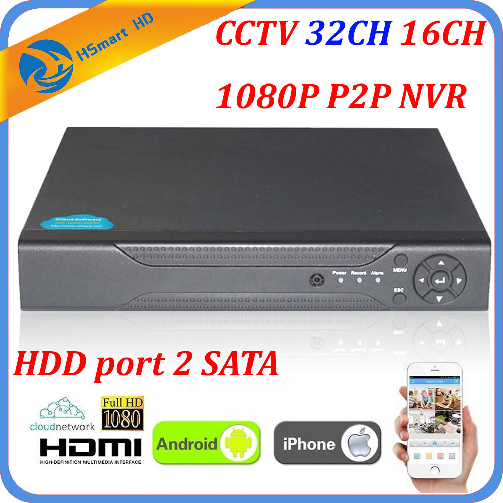 CCTV Full HD 1080P 32CH NVR HI3535 Processor Security Network Recorder 32CH 1080P NVR Support Wifi 3G RTSP 32CH 1080P/16CH 4MP wavelets processor