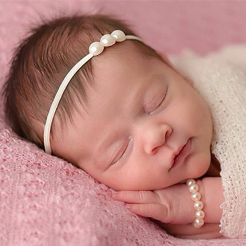 Newborn Headband Photography Props Pearl Headband Lovely Kids Girls Hair Band Accessories Photo Props  Baby Girl Accessories