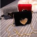El Limitado Bolsillo de Solapa Único Flap Nueva Primavera Y el Verano 2016 Frosted Corazón Mini Bolso Cadena bolsa de Mensajero de La Taleguilla Femenina
