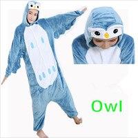 New Unisex Adult Cartoon Pajamas Sleep Coat Winter Newest All In One Pyjama Owl Cosplay Garment