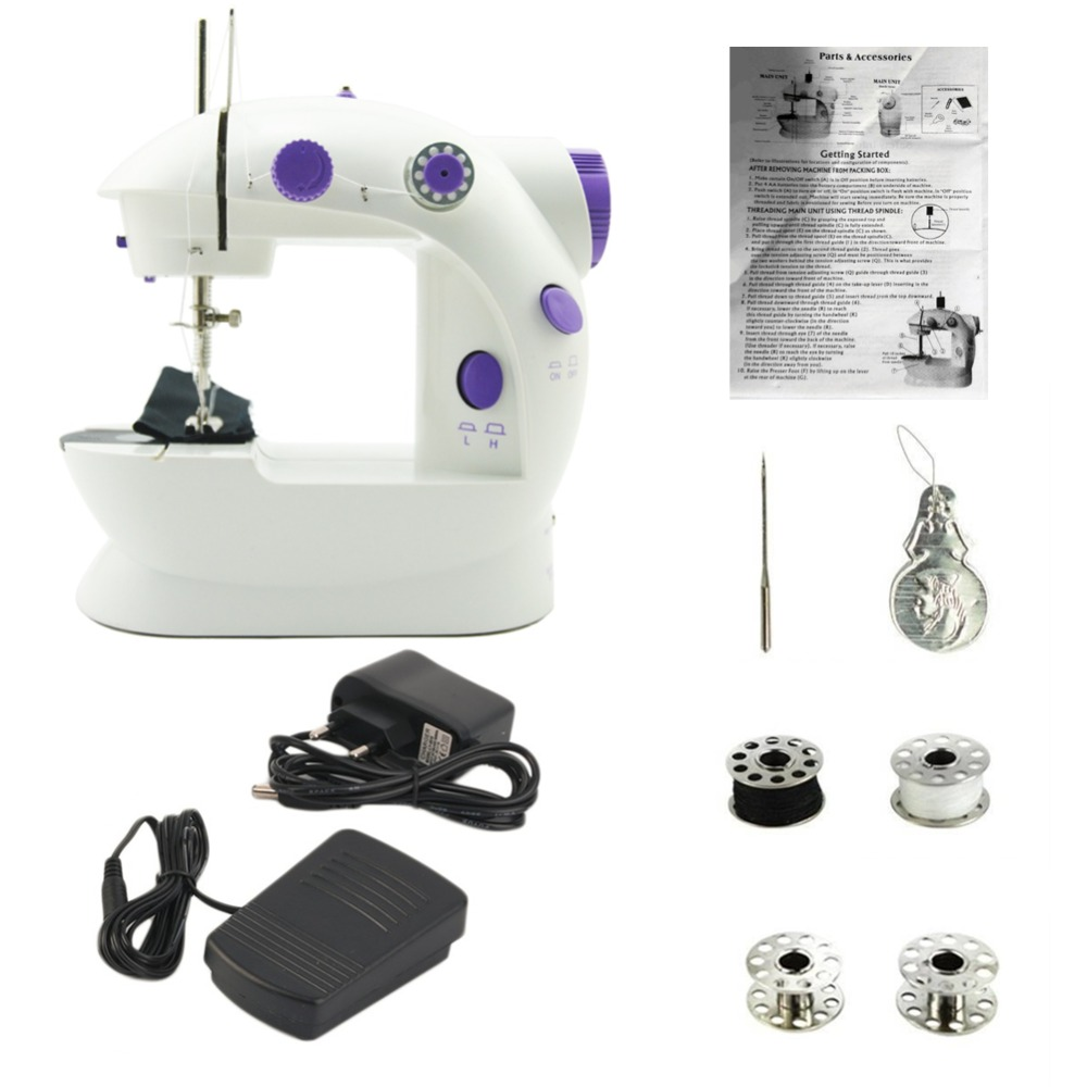 Image 3 - Electric Mini Sewing Machine For Home Hand Machine To Sew 110/220V Speed Adjustment With Light Handheld Sewing MachineSewing Machines   -