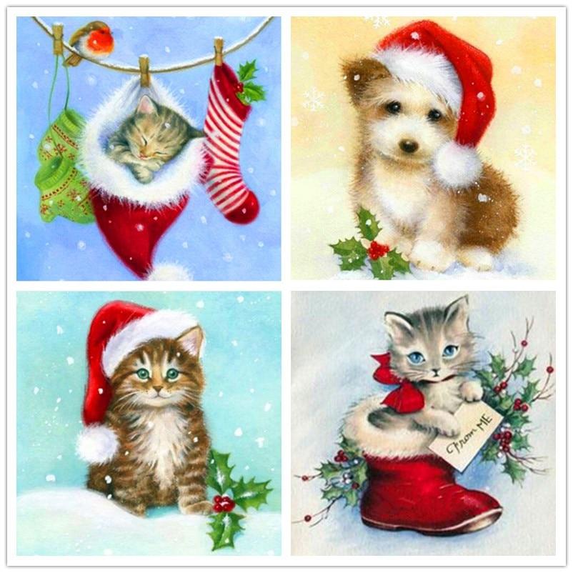 Sale Christmas Card Gift 5D Diy Full Square / Round Stone Diamond ...