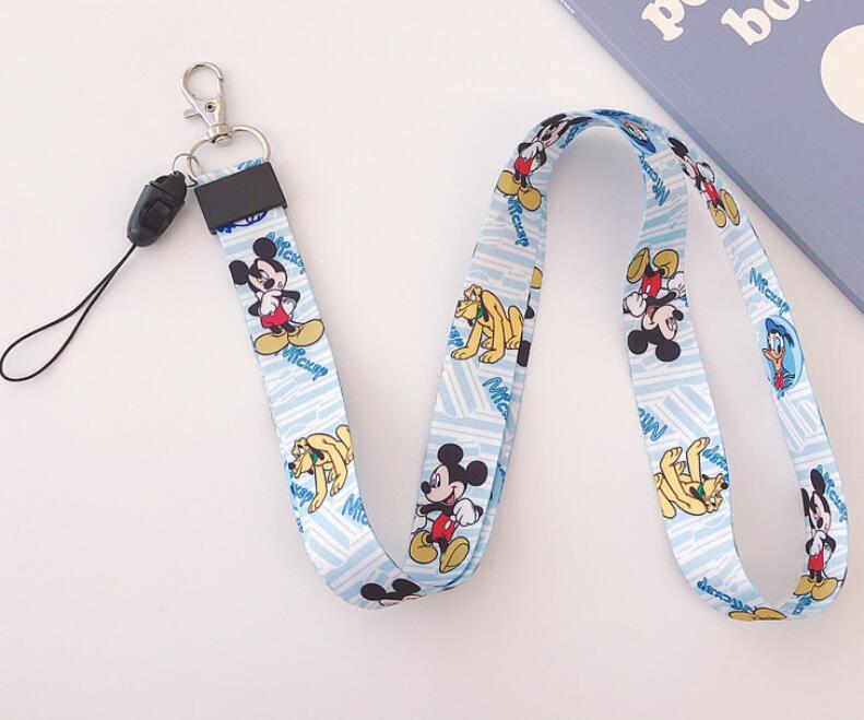 Lot mix Cartoon Mickey Neck Strap Lanyard ID Badge Mobile Phone Charms Key Chain