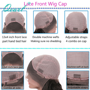 Image 5 - 99j Burgundy Wavy Short Bob Lace Front Human Hair Wigs With Baby Hair Pre Plucked Middle Part Brazilian Remy Hair Wig Qearl Hair