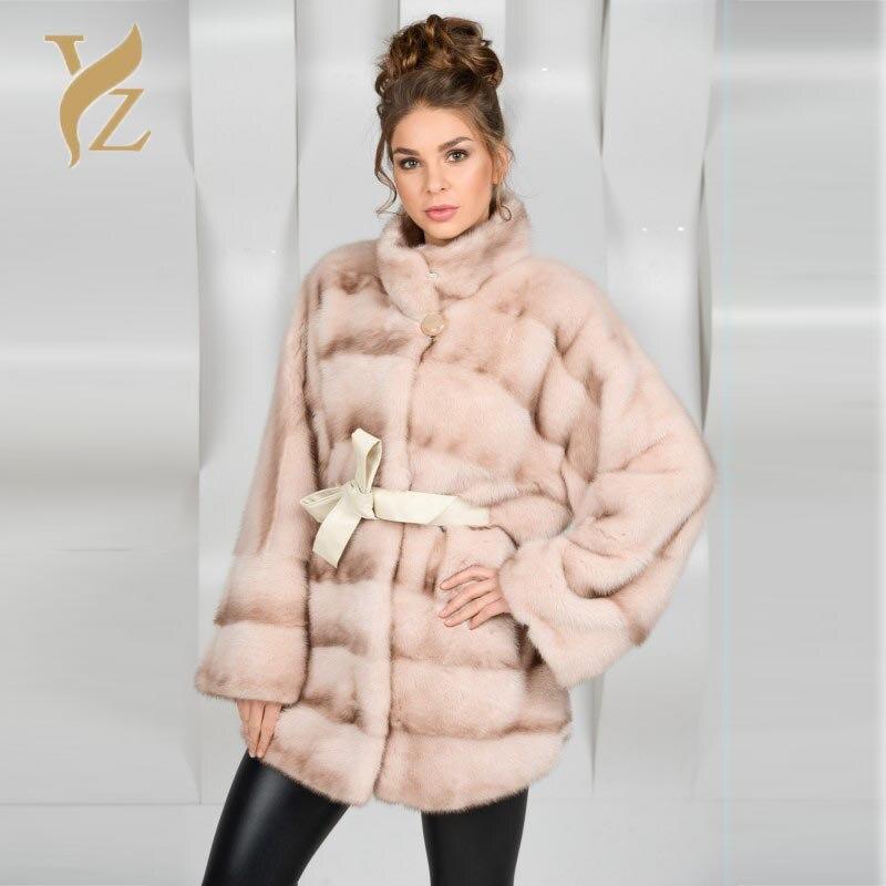 Peau 100 Fourrure As De Designer Plus Femmes Picture Manteaux Nature La Vêtements Vison Hiver Collier Taille Nouvelle Arrivée Pleine Stand EWqFW0g