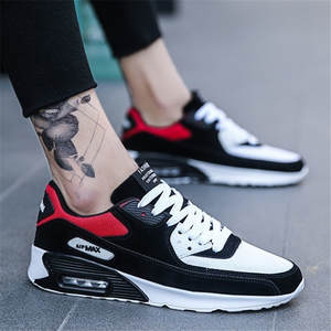 Casual-Shoes Air-Cushion Sneakers Man Walking-Trainer Feminino Breathable Popular Lace-Up