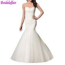 Wedding Dress Mermaid Bride Dresses Trumpet Gown for Women Sweetheart suknia lubna Best vestido de noiva