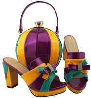 Модные итальянские Стиль Для женщин объединения обувь и сумка в комплекте Обувь в африканском стиле и сумки, чтобы соответствовать для итал