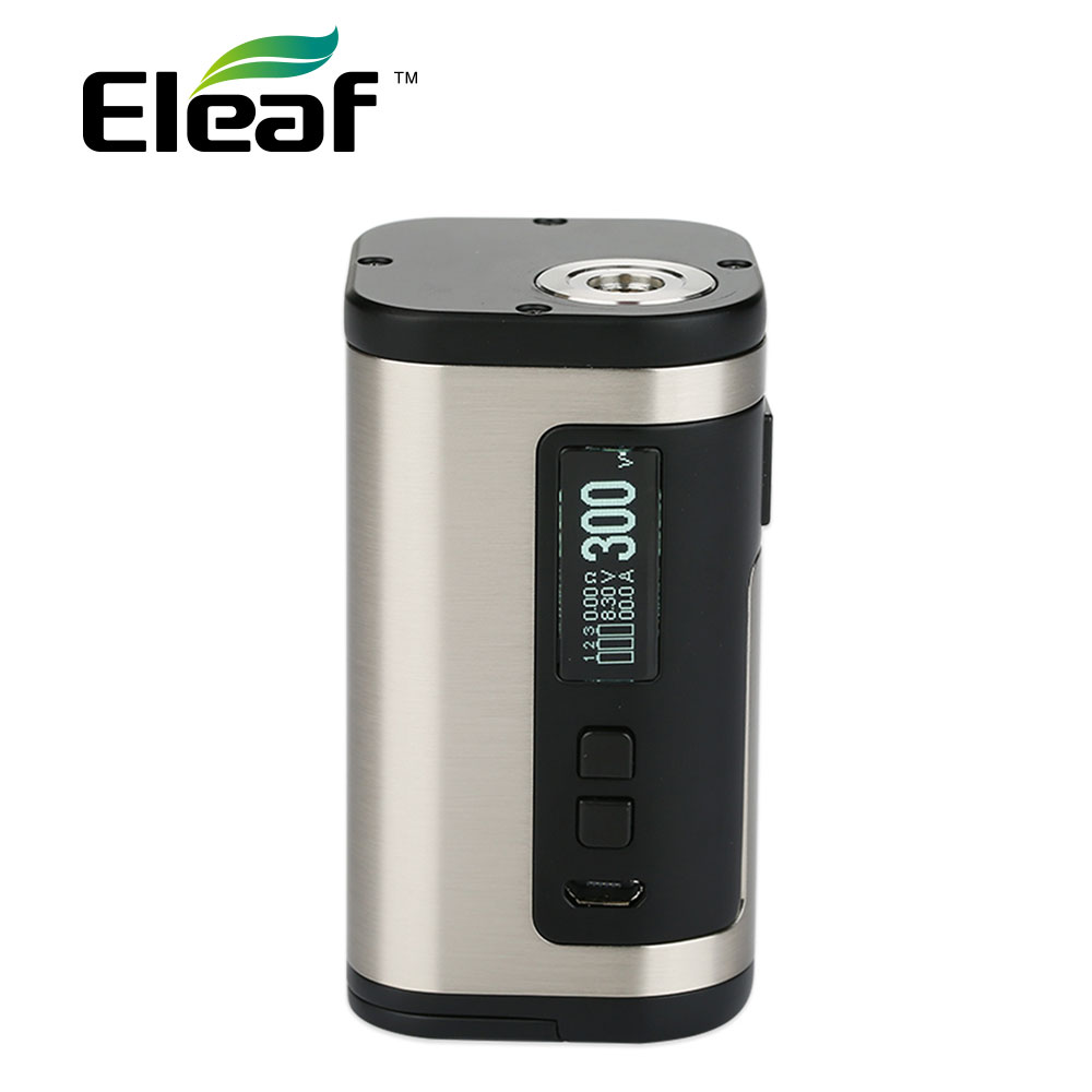 100% Original 300W Eleaf IStick Tria TC Box MOD 2A Quick Charging No 18650 Battery 300W E-cig Mod Fit Ello S Atomizer/Tria Kit